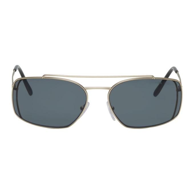 Photo: Prada Gold Metal Frame PRZ Sunglasses