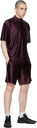 Acne Studios Burgundy Piping Shorts