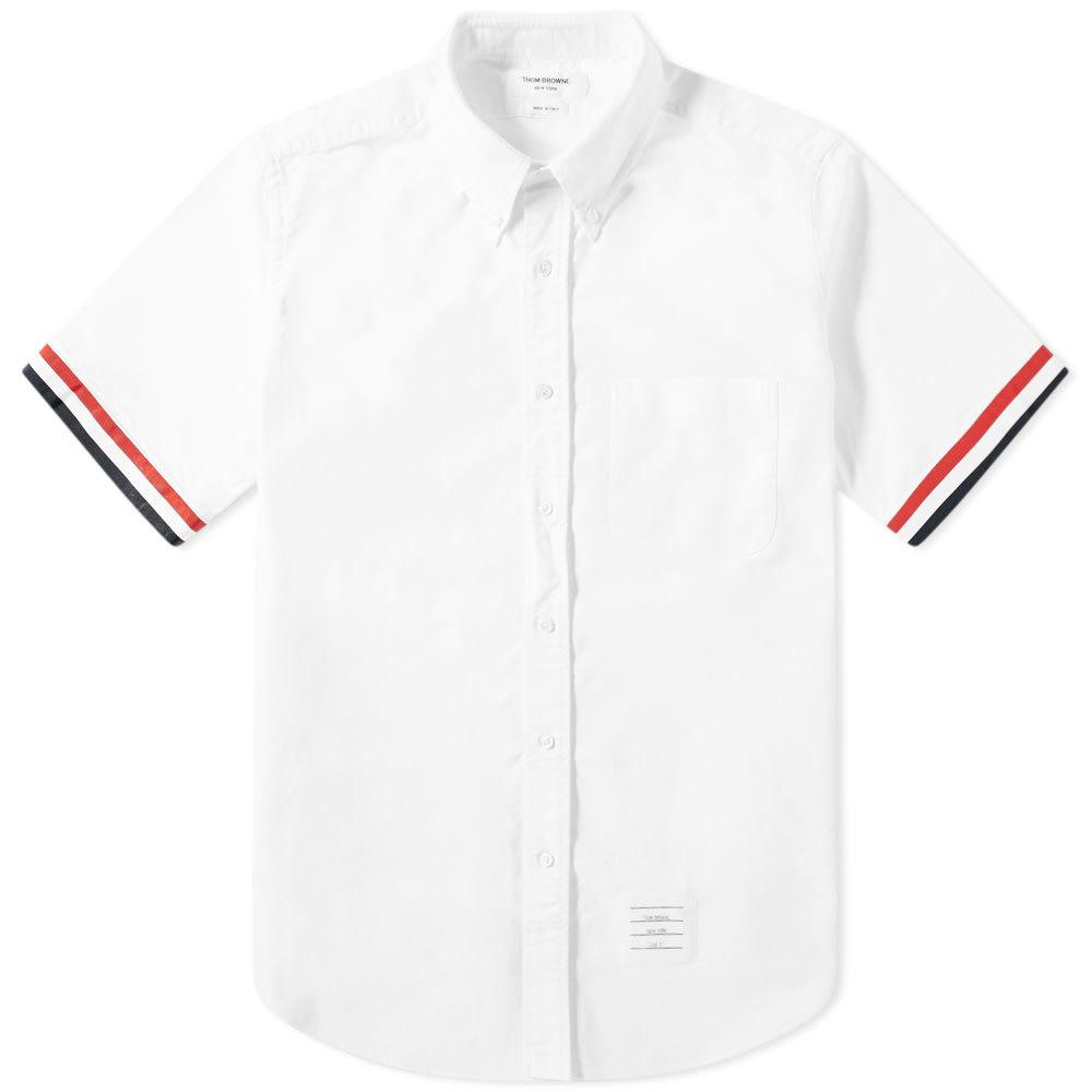 Photo: Thom Browne Short Sleeve Grosgrain Cuff Shirt