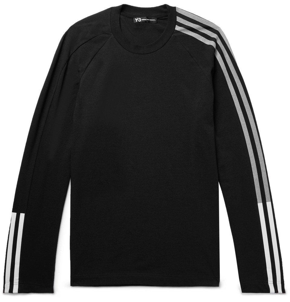 Photo: Y-3 - Printed Cotton-Blend Jersey T-Shirt - Men - Black