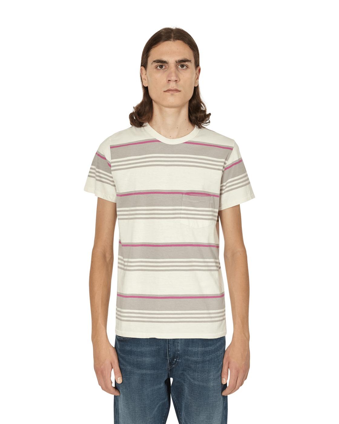 Photo: Levi's Vintage 1960's Causal Stripe T Shirt Grey Multi