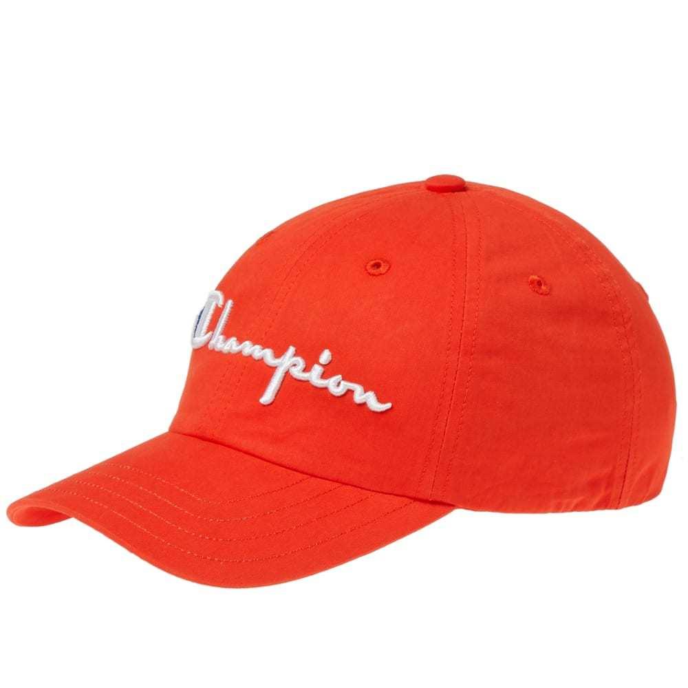 Photo: Champion Reverse Weave Logo Baseball Cap Red