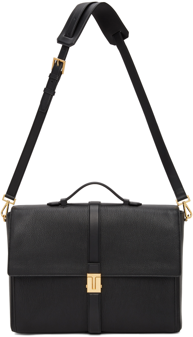 Photo: TOM FORD Black T Clasp Briefcase