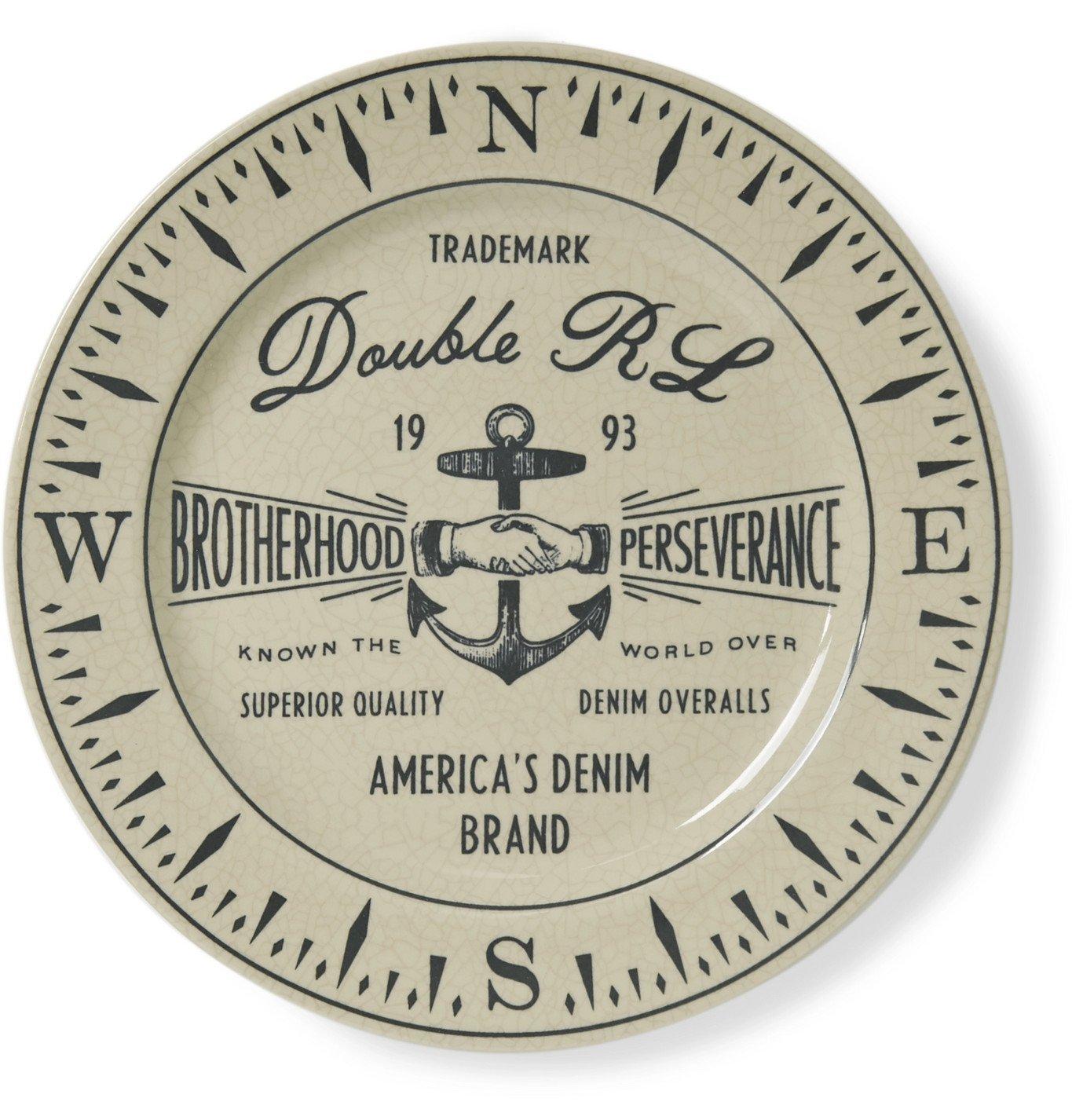 RRL - Logo-Print Stoneware Souvenir Plate - Neutrals