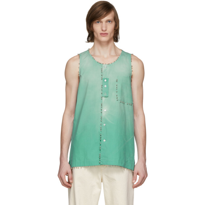 Photo: Lanvin Green Dyed Bell Shirt