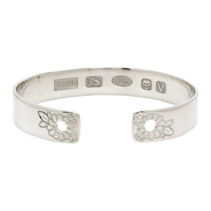 Photo: Bleue Burnham Silver Marigold Bangle Bracelet