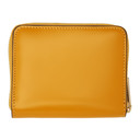 Smythson Yellow Wigmore Coin Purse Wallet