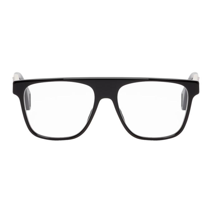 Photo: Gucci Black and Off-White Square Glasses