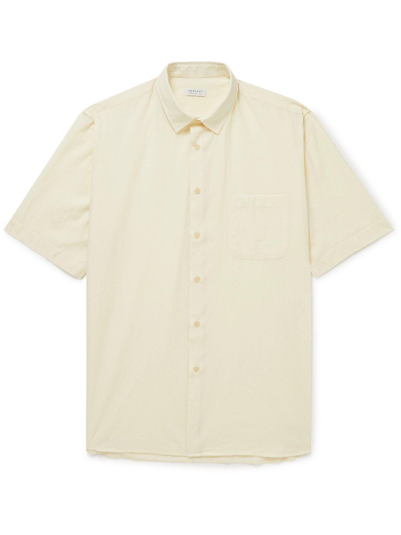 Sunspel - Selvedge Cotton-Chambray Shirt - Neutrals