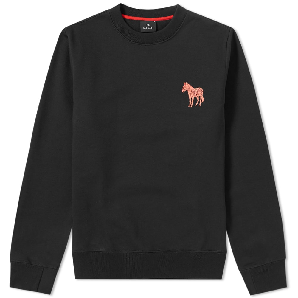 Photo: Paul Smith Embroidered Zebra Sweat Black