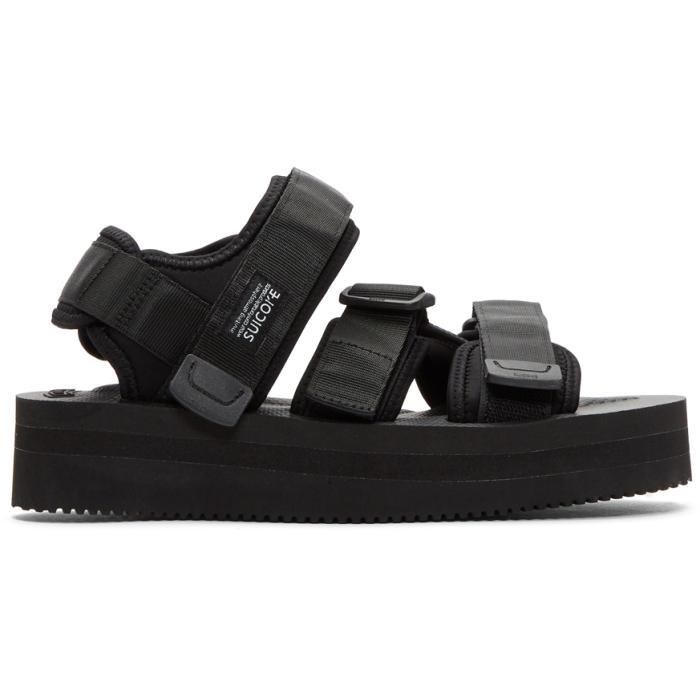 Suicoke Black Platform Kisee-VPO Sandals fOl8j