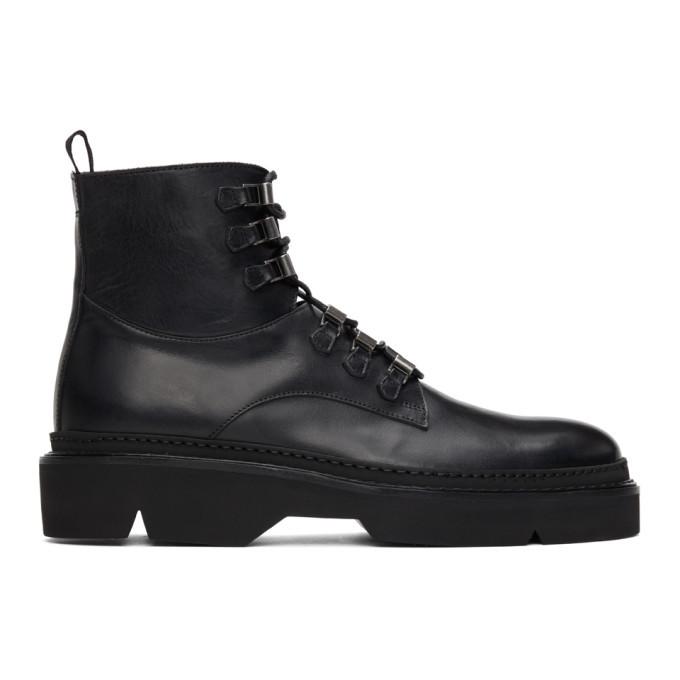 Photo: Etro Black Combat Boots