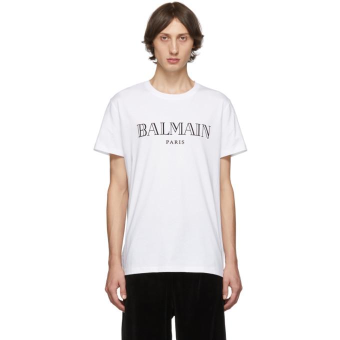 Photo: Balmain White Logo T-Shirt