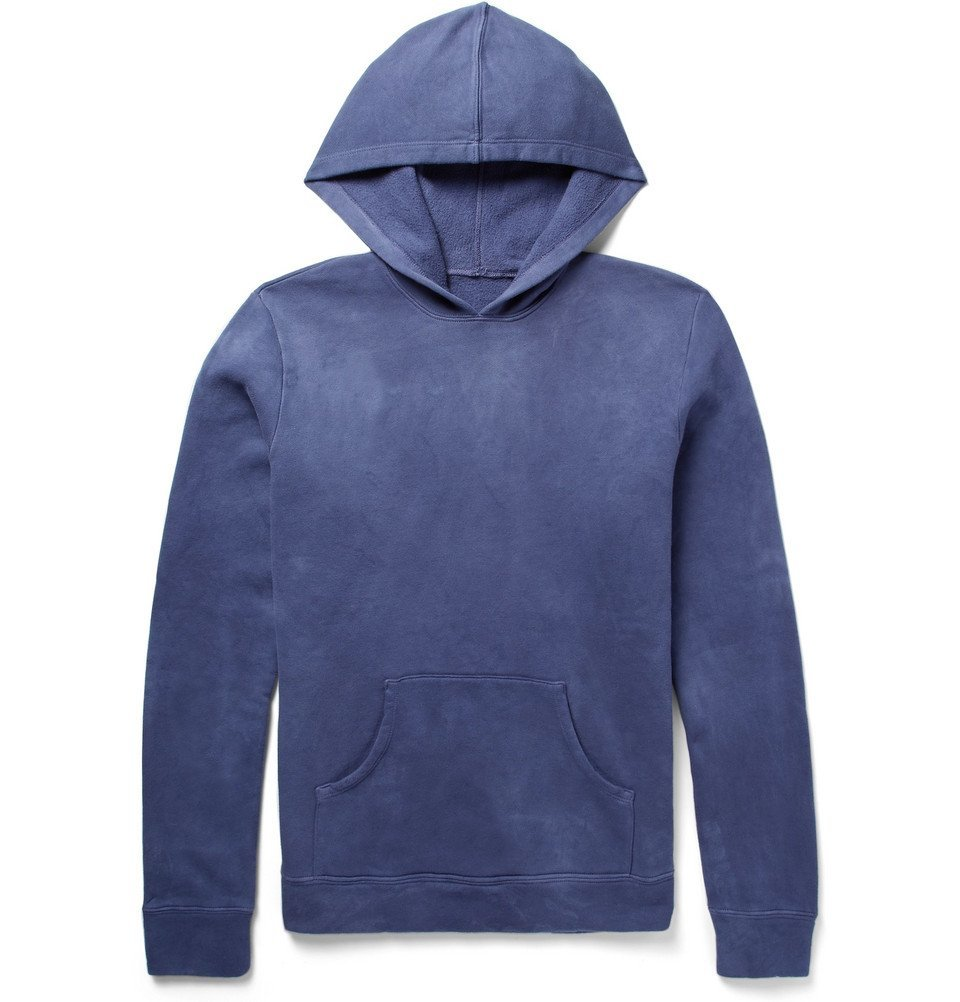 The Elder Statesman - Fleece-Back Cotton-Jersey Hoodie - Blue