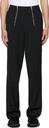 GmbH Black Wool Talc Trousers