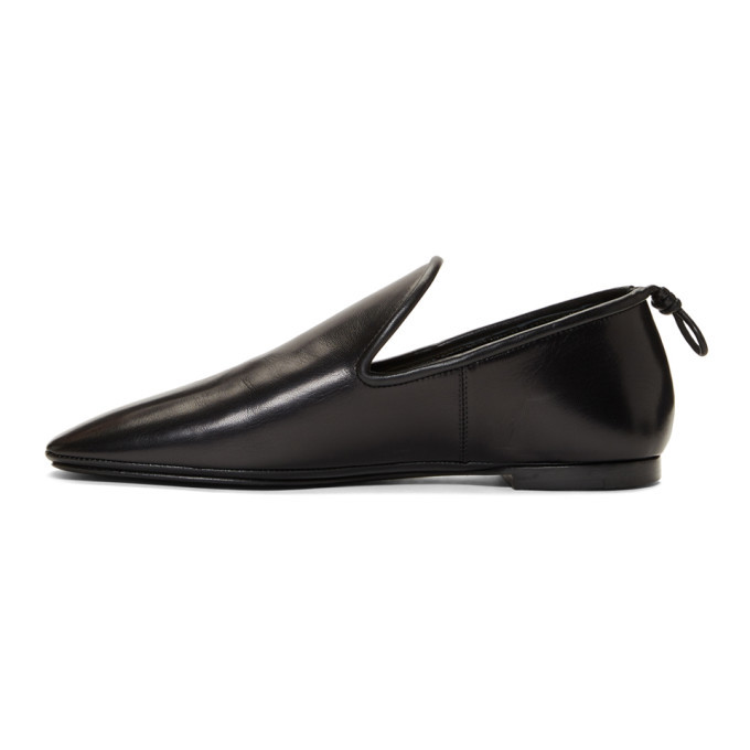 Lemaire Black Soft Loafers