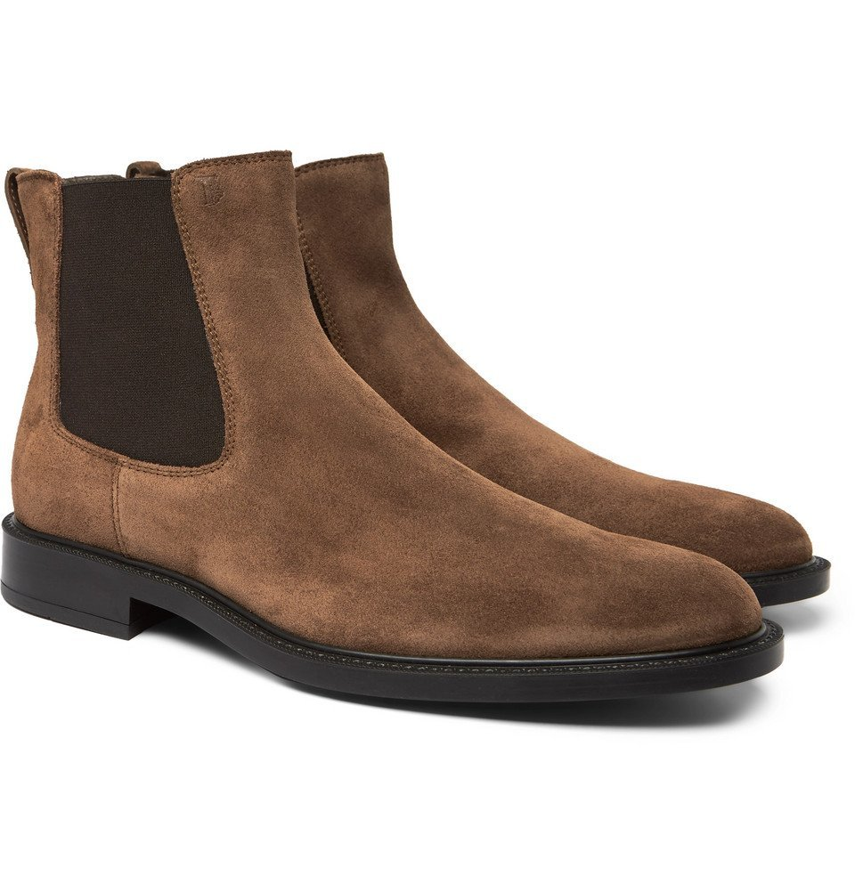 Photo: Tod's - Suede Chelsea Boots - Men - Brown