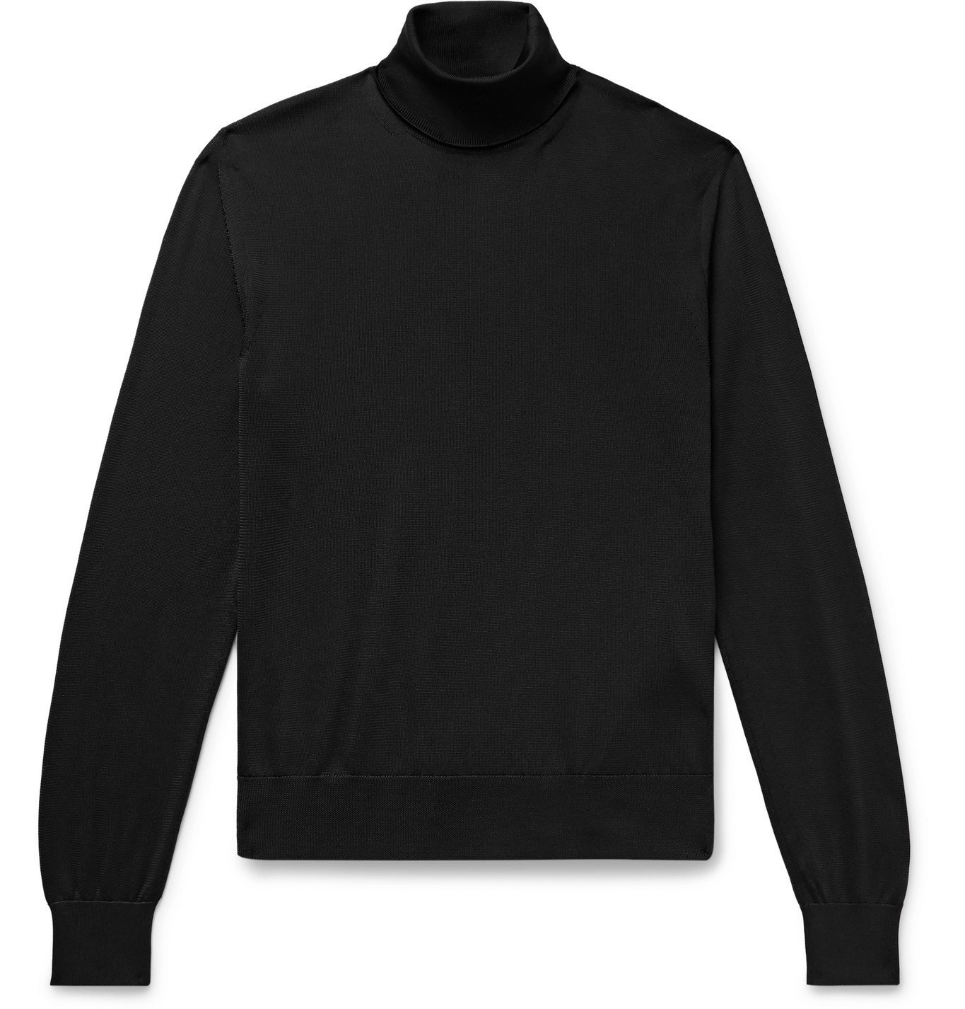 Photo: TOM FORD - Slim-Fit Knitted Rollneck Sweater - Black