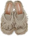 Acne Studios Beige Linen Heeled Sandals