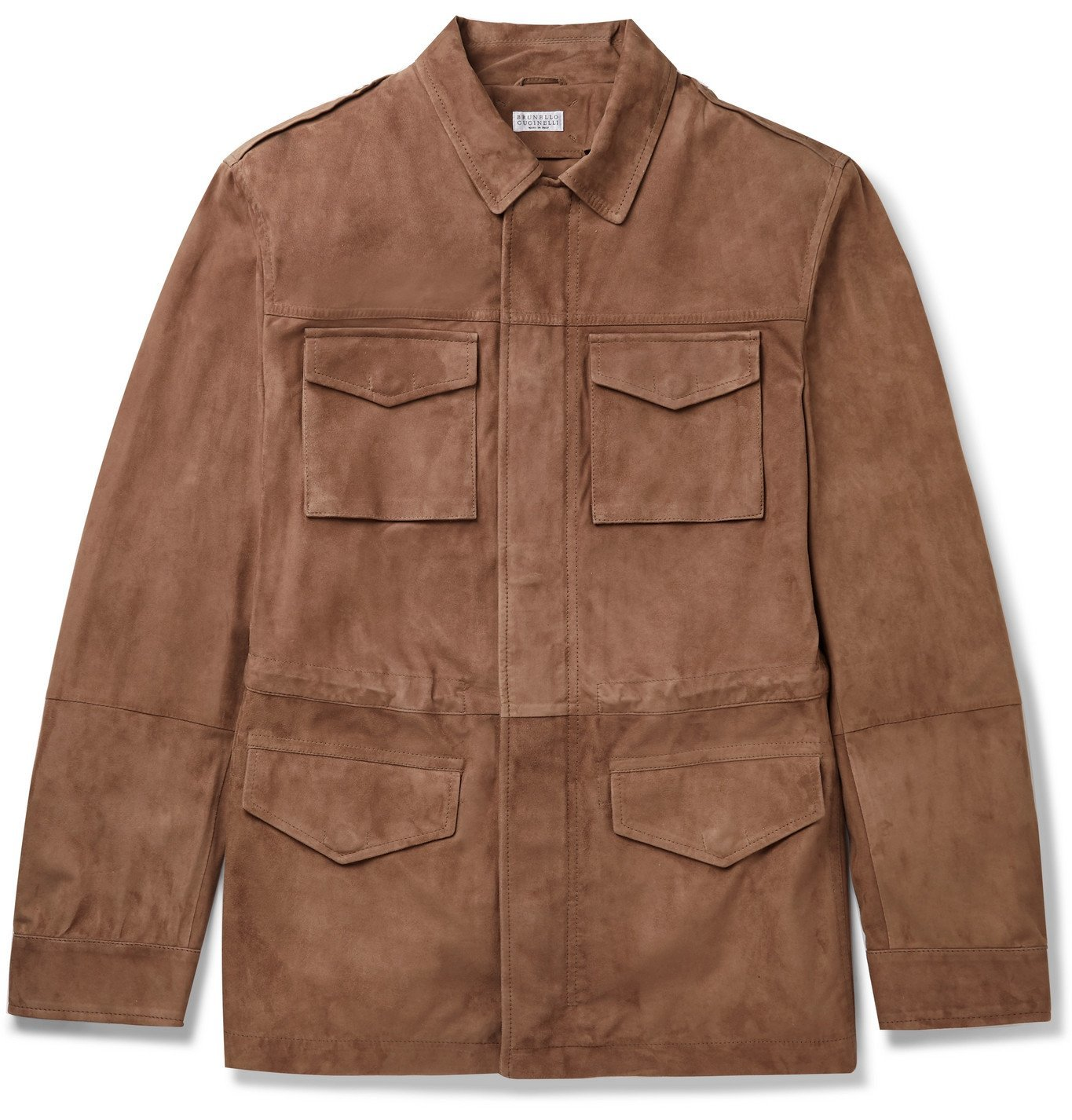 Photo: Brunello Cucinelli - Suede Field Jacket - Brown