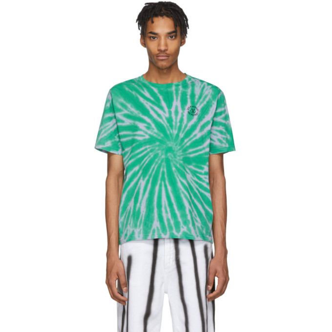 Photo: Carne Bollente Blue and Green Tie-Dye Sex Positive T-Shirt