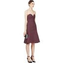Nina Ricci Purple Satin Compact Bustier Dress