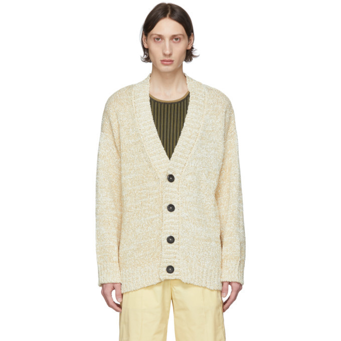 Photo: Salvatore Ferragamo Off-White Alpaca Cardigan