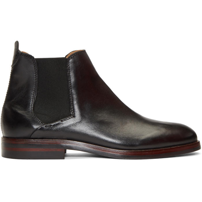 Photo: H by Hudson Black Tonti Chelsea Boots