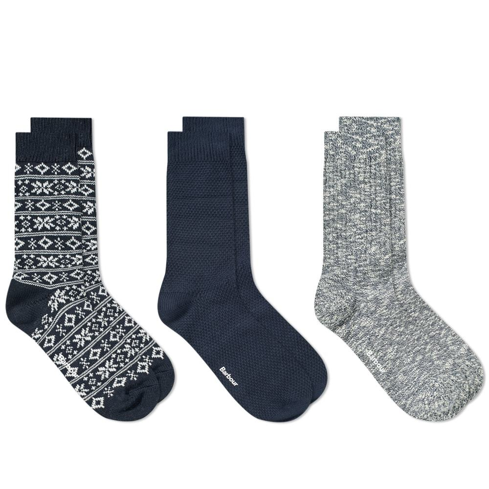 Photo: Barbour Chunky Sock Gift Set - 3 Pack