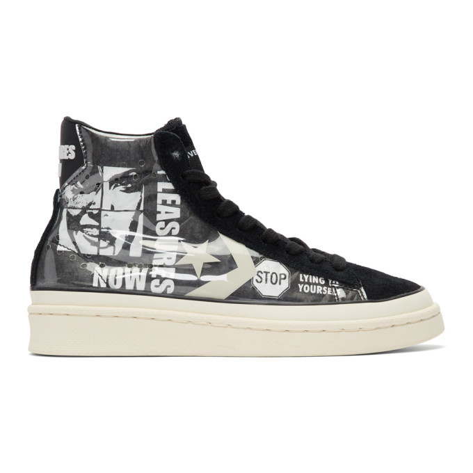 Photo: Converse Grey and Black Pleasures Edition PVC High-Top Sneakers