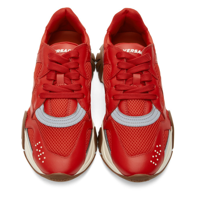 Versace Red Squalo Sneakers
