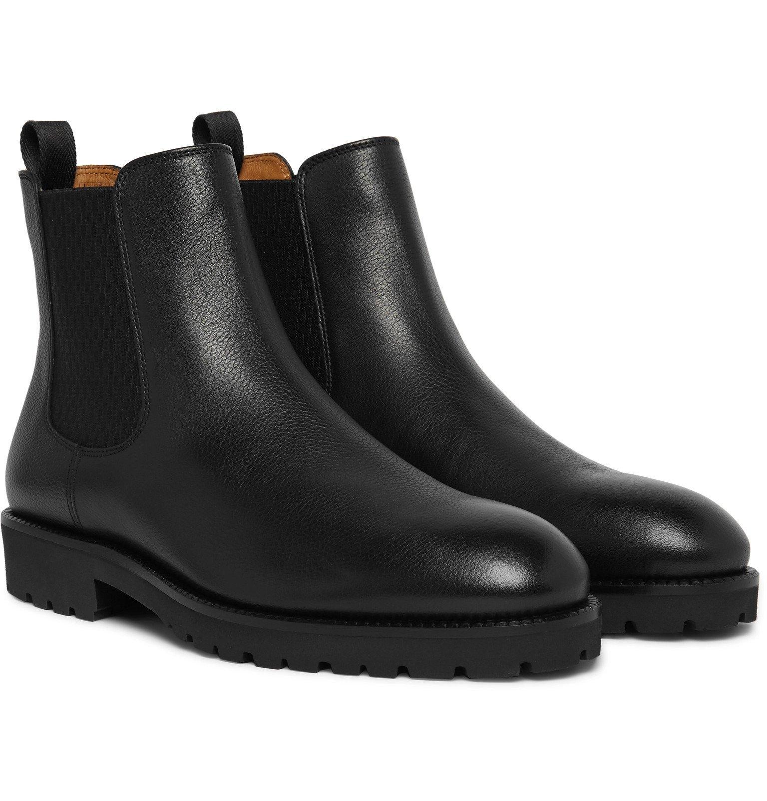 Photo: Hugo Boss - Eden Leather Chelsea Boots - Black