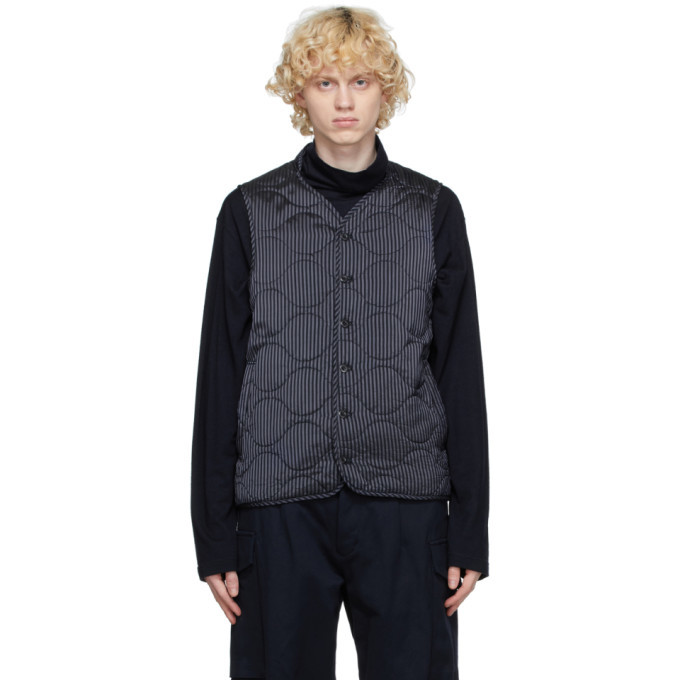 Photo: tss Navy Cupro Quilted Vest