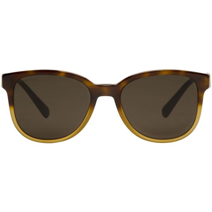 Photo: Prada Tortoiseshell Logo Plaque Sunglasses