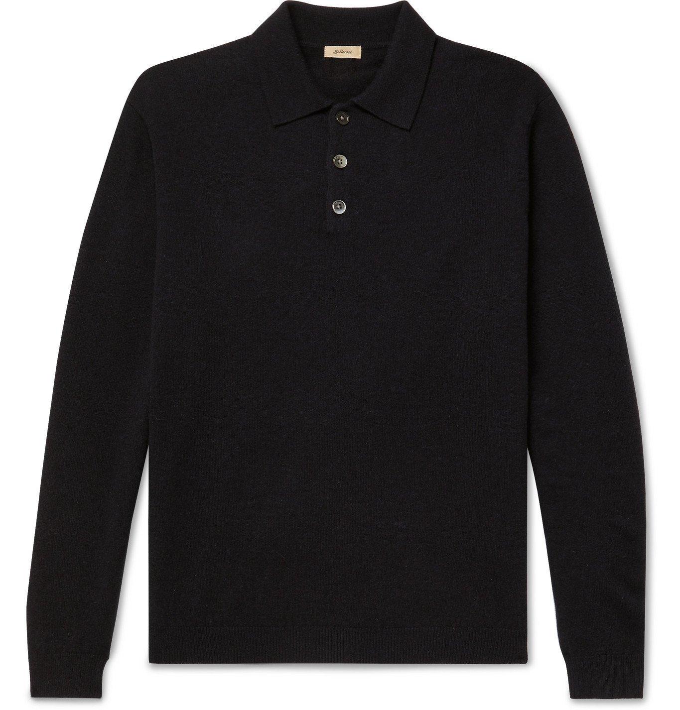Photo: Bellerose - Wool Polo Shirt - Black