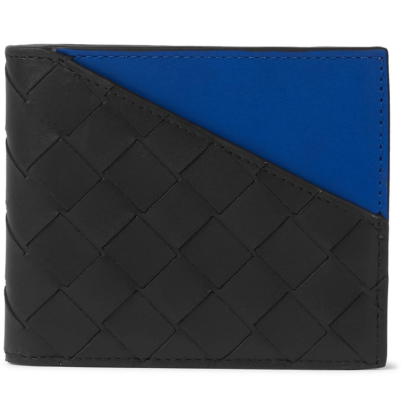 Photo: Bottega Veneta - Colour-Block Intrecciato Leather Billfold Wallet - Black