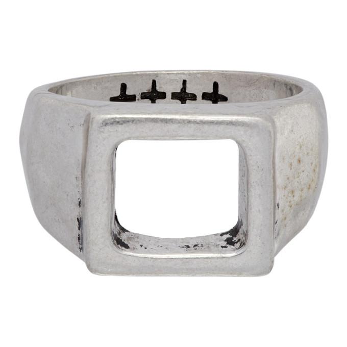 Photo: Ksubi Silver Dripps Box Signet Ring