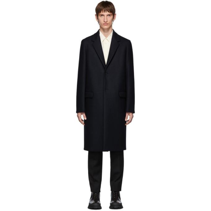 Photo: Jil Sander Navy Wool Essential Coat