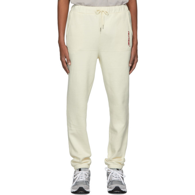 Photo: Polythene* Optics Off-White Fleece Lounge Pants