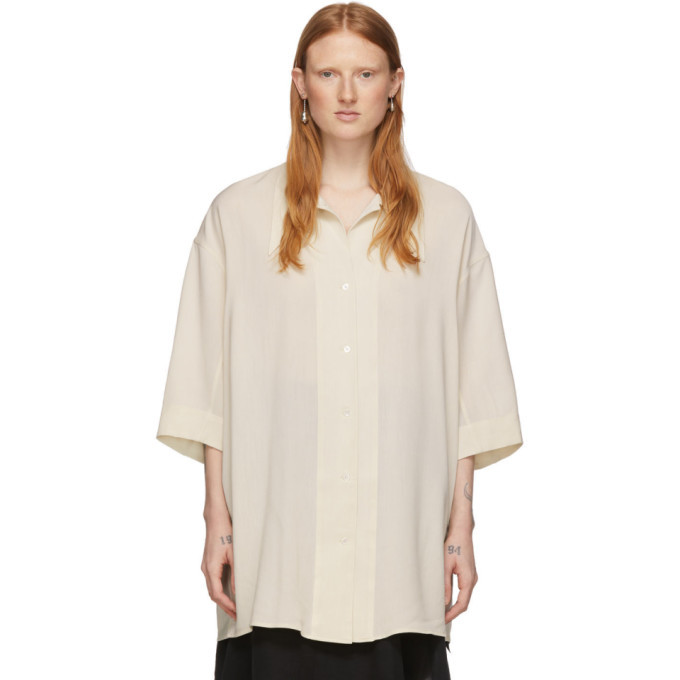 Photo: Lemaire Off-White Maxi Shirt