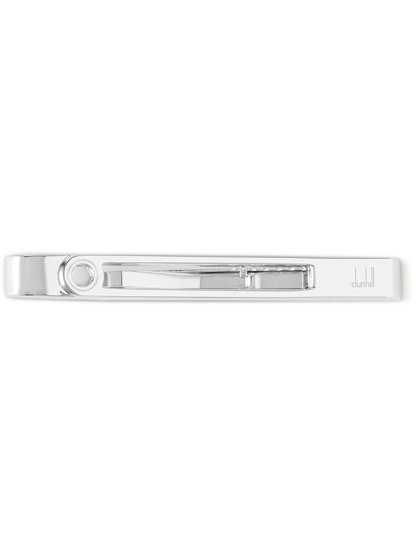 Dunhill - Hex Rhodium-Plated Tie Clip