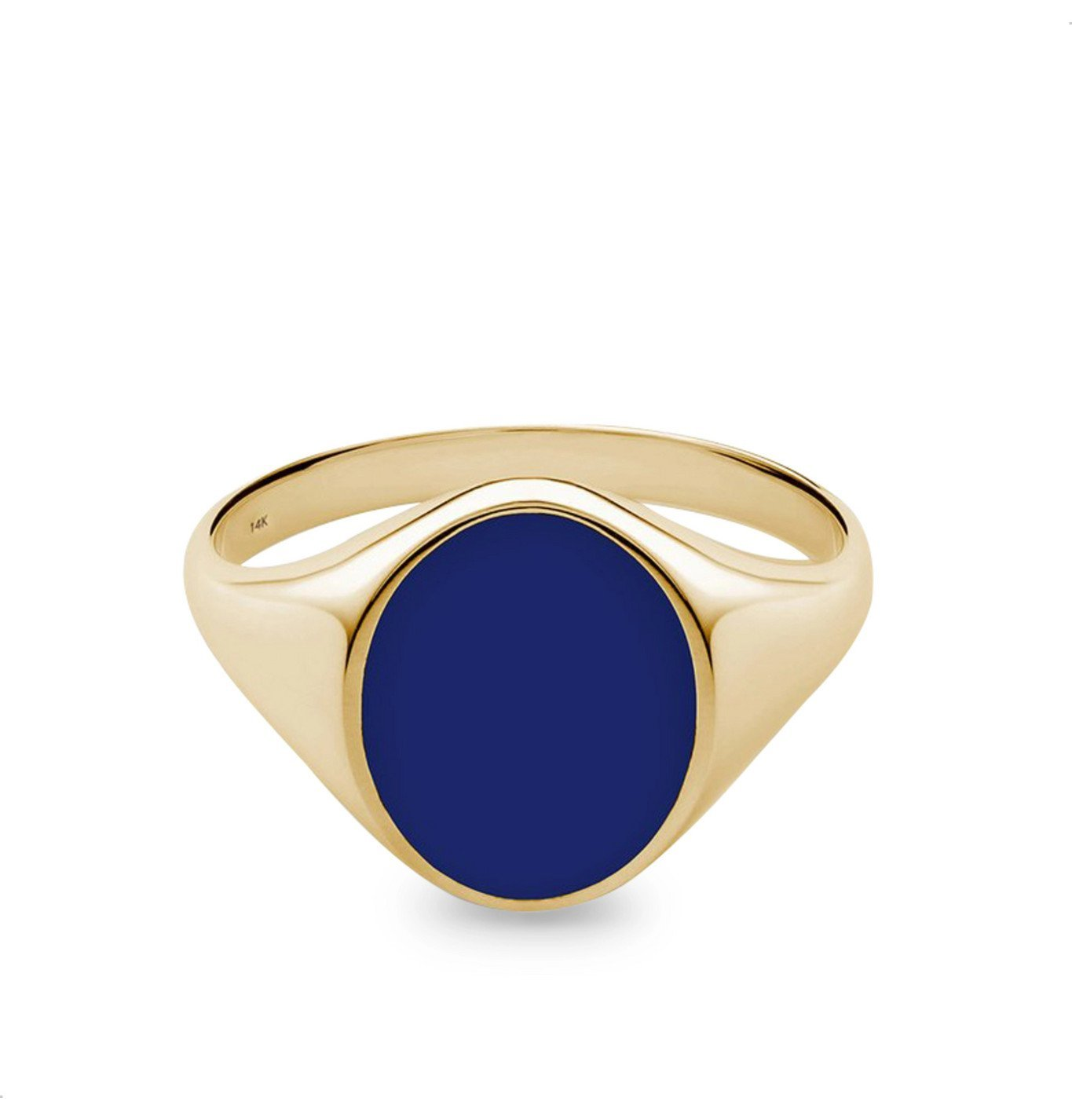 Photo: Miansai - Heritage Gold-Plated and Enamel Signet Ring - Gold