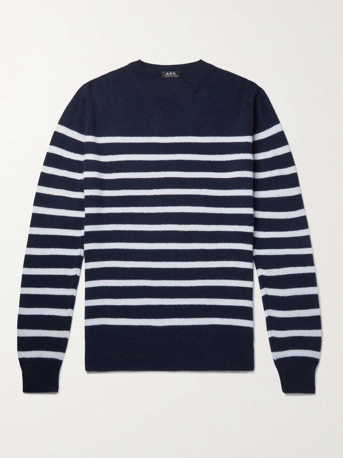 Photo: A.P.C. - Striped Wool Sweater - Blue