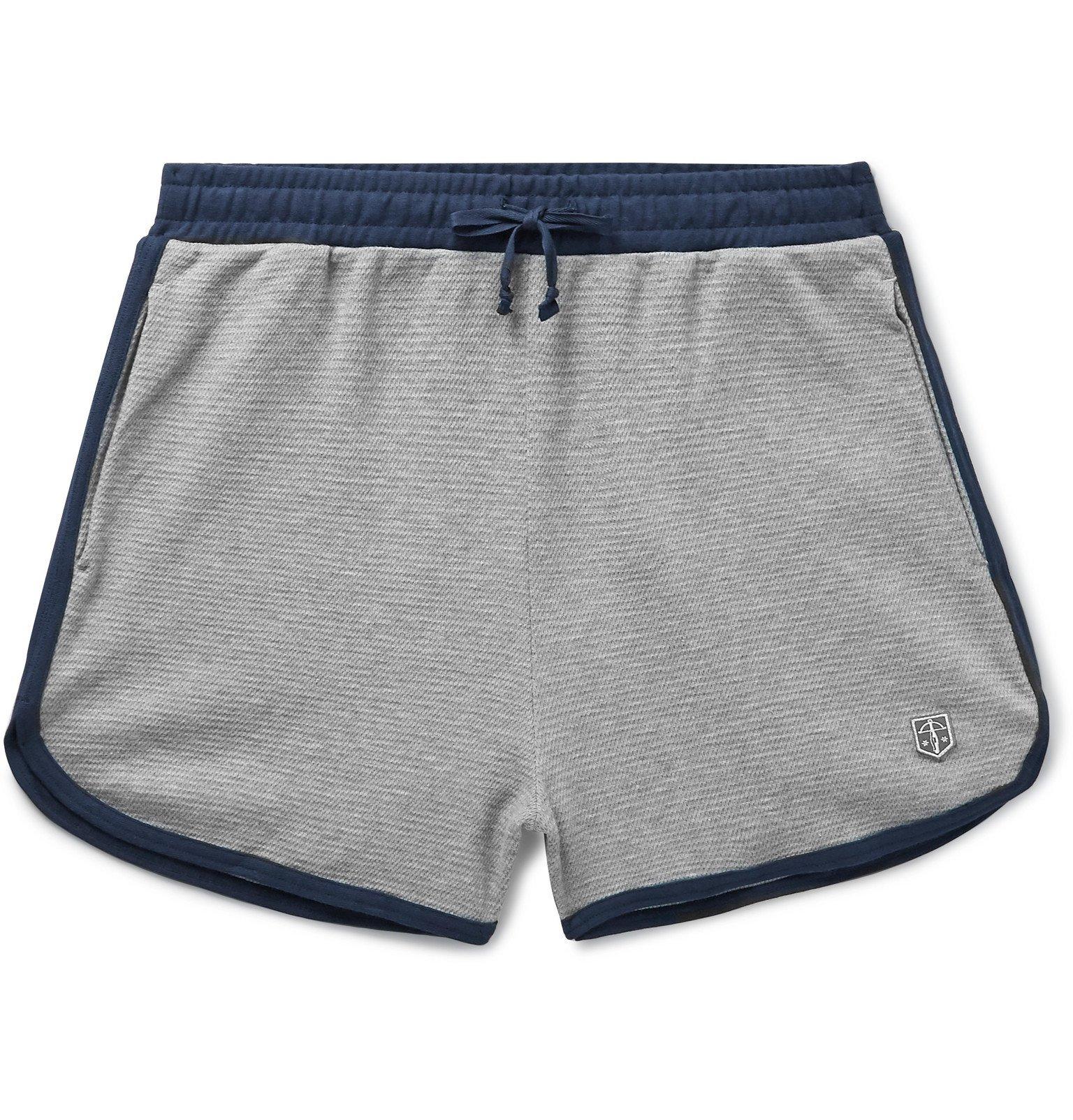 Photo: Schiesser - Leo Cotton-Mesh Pyjama Shorts - Gray