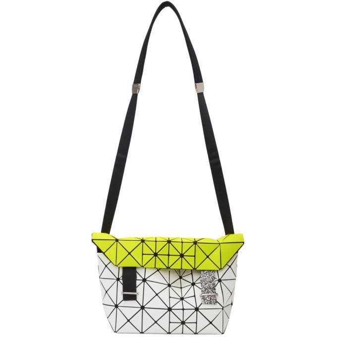 Photo: Bao Bao Issey Miyake White and Yellow Pixel Messenger Bag