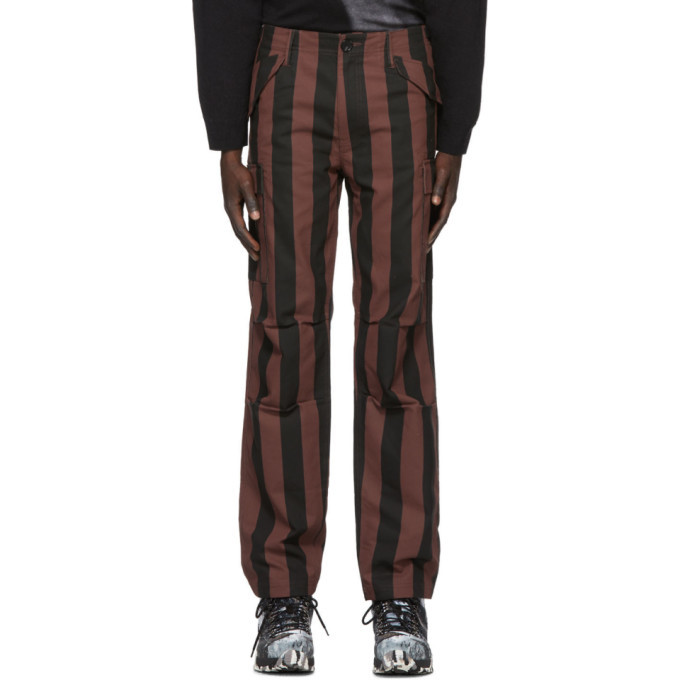 Photo: 032c Black and Red Striped Cargo Pants