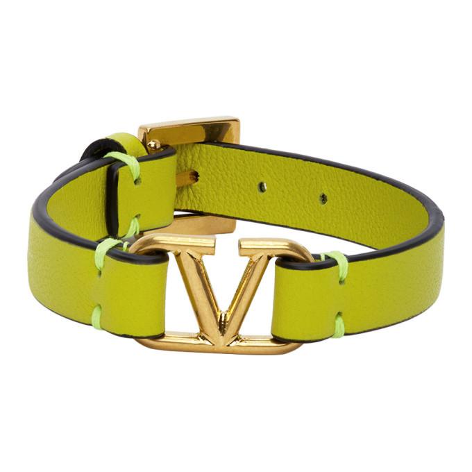 Photo: Valentino Green Valentino Garavani VLogo Bracelet