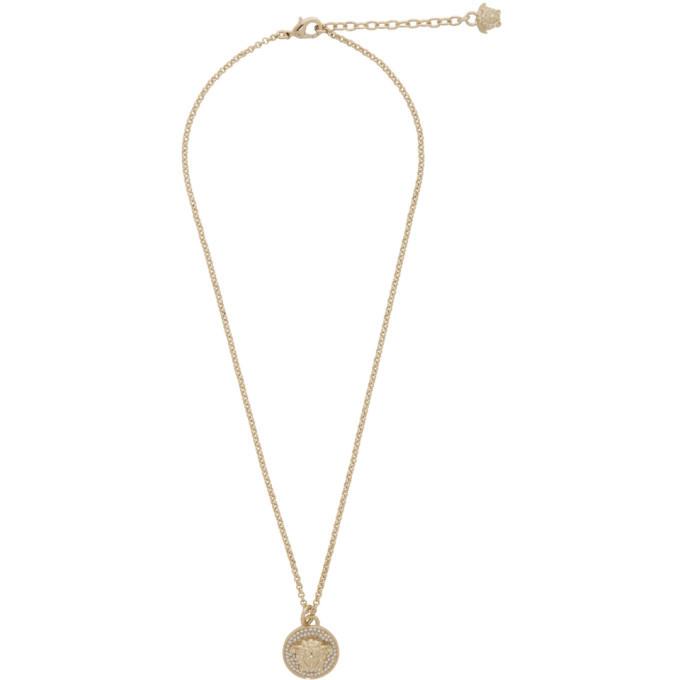 Photo: Versace Silver Small Medusa Coin Necklace
