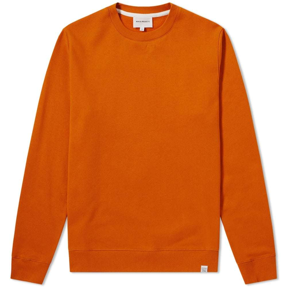 Photo: Norse Projects Vagn Classic Crew Sweat Orange