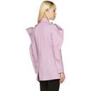 Nina Ricci Purple Twill Coat